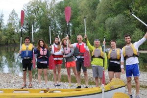 hunimed canoeing team