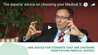 expert advice for choosing medical school